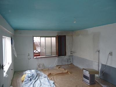 天井塗り完成