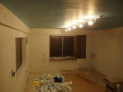 天井と床完成